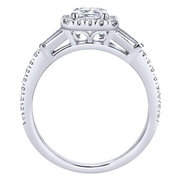 Gabriel & Co ER7268 Emerald Cut Halo