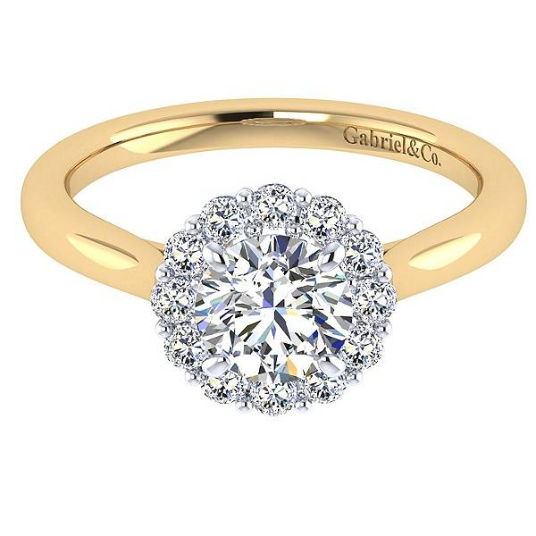 Gabriel & Co ER7498 solitaire band halo