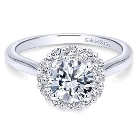 ER7498 solitaire band halo