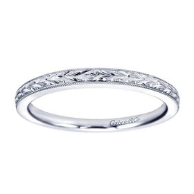 WB7222 engraved wedding band