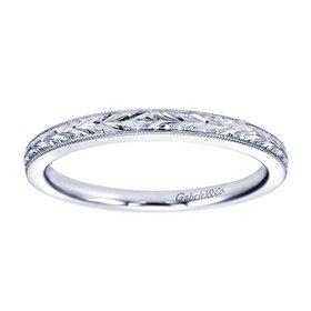 WB7222 engraved wedding band