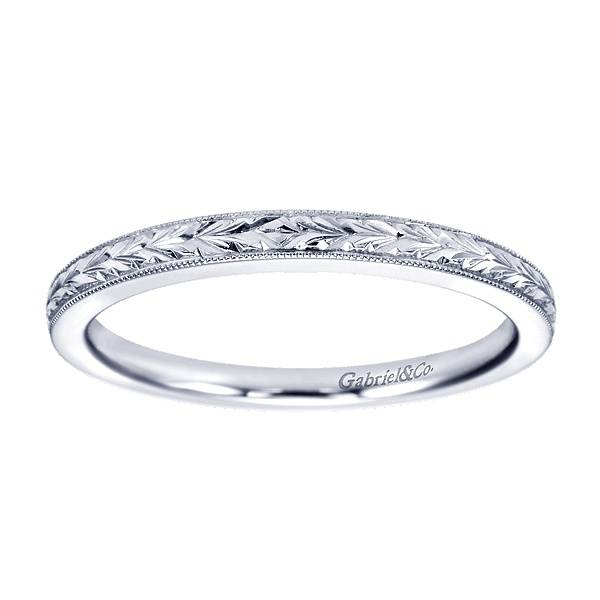 Gabriel Co Wb7222 Engraved Wedding Band