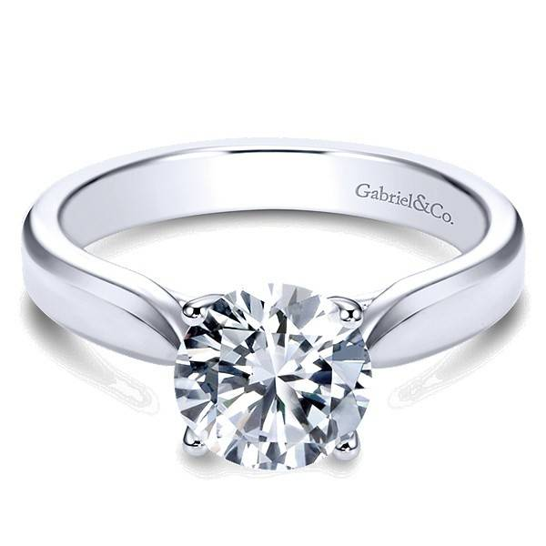 Gabriel & Co ER6593 Modern 4-Prong Solitaire