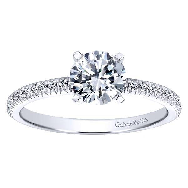 front halo band bands rings diamond engagement white wedding gold ring