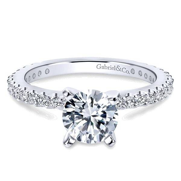 ER4124 4-prong diamond band