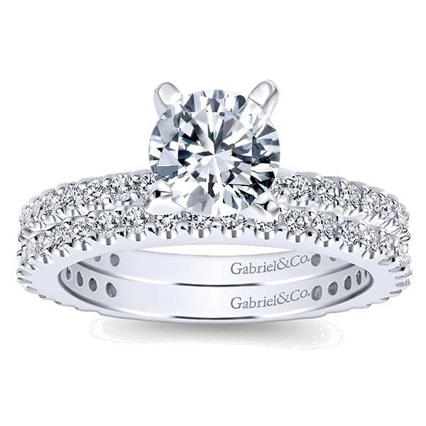 Gabriel & Co ER4124 4-prong diamond band