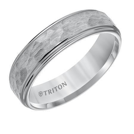 Triton 11-5579 hammered tungsten carbide band