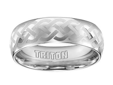 Triton 11-2128 Celtic Knot Tungsten Band