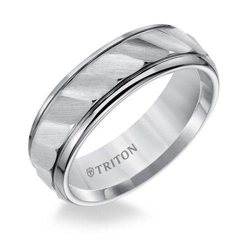 11-2925 tungsten wave cut wedding ring