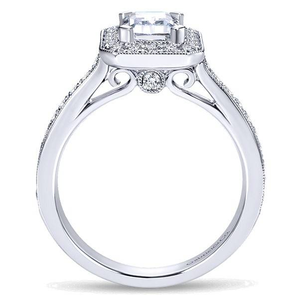Gabriel & Co ER7528 Emerald Cut Halo