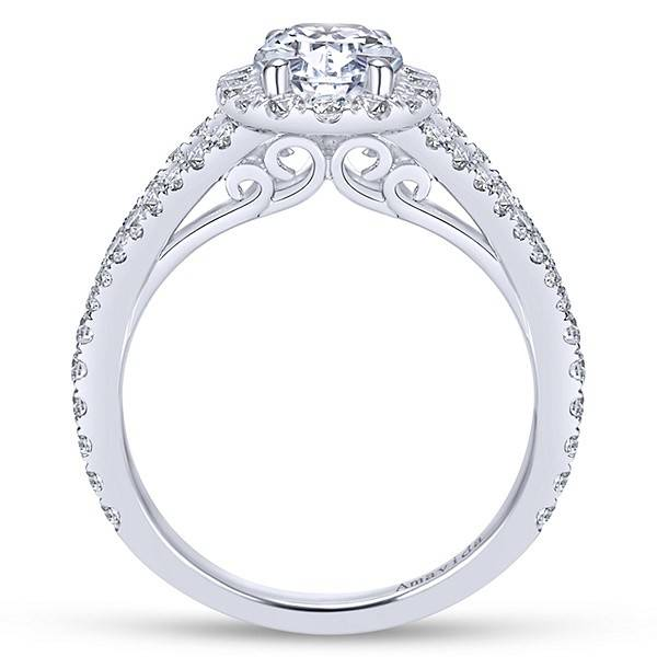 Gabriel & Co ER7522 Oval Split Shank Halo