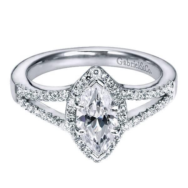 Gabriel & Co ER5878 Marquise Diamond Halo