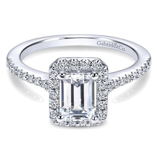 ER5822 Emerald Cut Halo