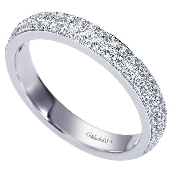 Gabriel & Co AN7662 2 row wedding band