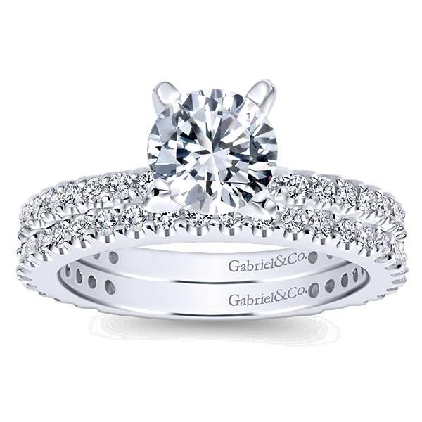 Gabriel & Co WB4124 Shared Prong Diamond Band