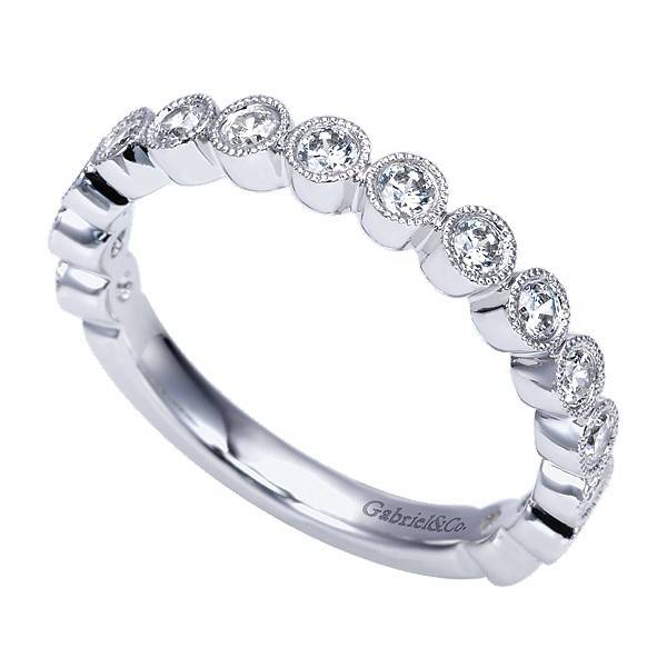 Gabriel & Co AN7959 Bezel Set Diamond Band