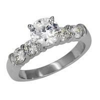 Lieberfarb ED70775 diamond shared prong setting