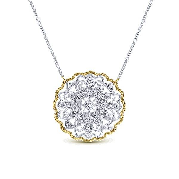 Gabriel & Co NK4147 Gold and Diamond Necklace