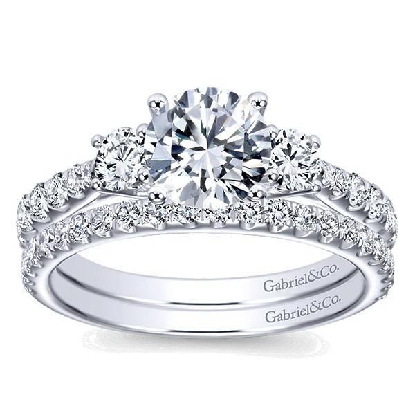 Gabriel & Co ER7462 modern 3 stone ring