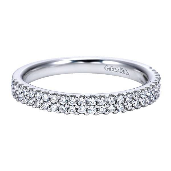 AN7748  2 row diamond wedding band
