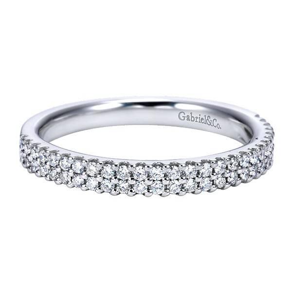 Gabriel & Co AN7748  2 row diamond wedding band