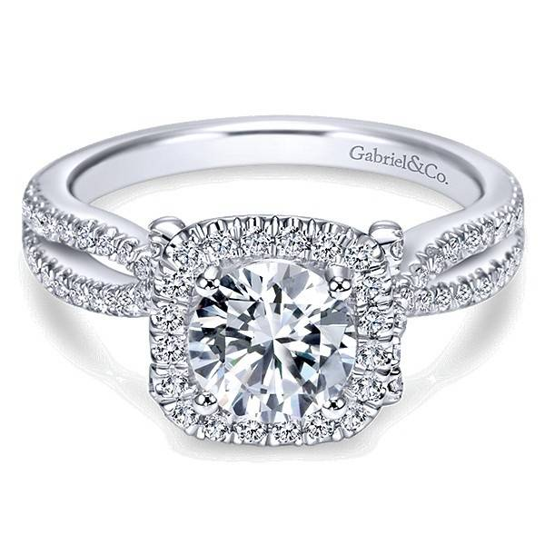 Gabriel & Co ER7806 Contemporary Halo Ring