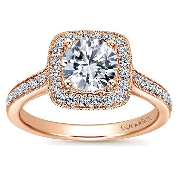 Gabriel & Co ER7525 halo engagement ring