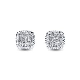 EG11556 cluster stud diamond earrings