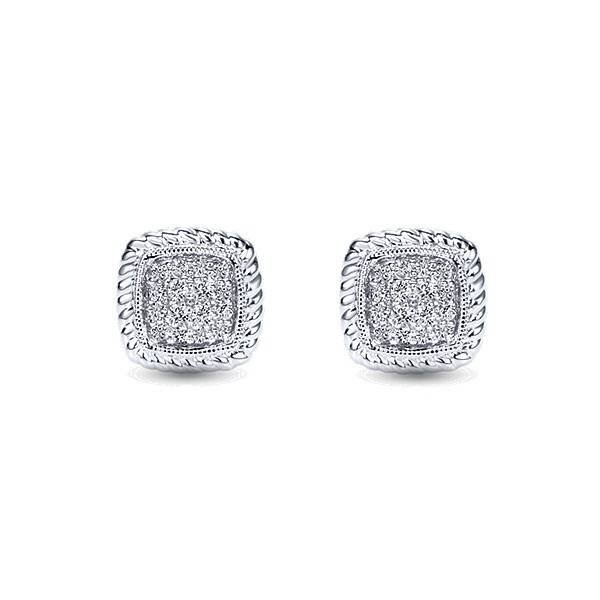 Gabriel & Co EG11556 cluster stud diamond earrings