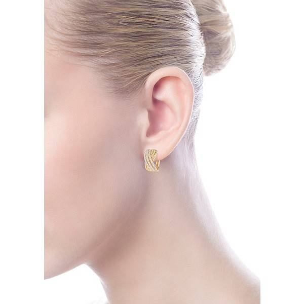 Gabriel Co Eg13230 Yellow Gold Huggie Earrings