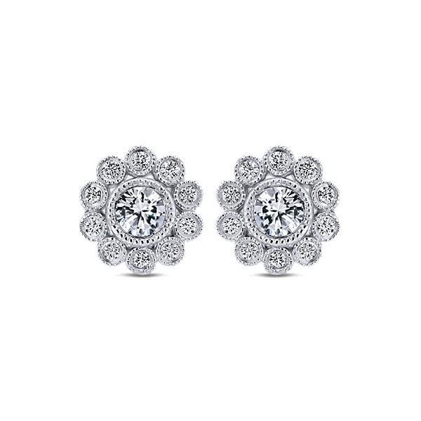 Gabriel & Co EG12865 diamond cluster earrings