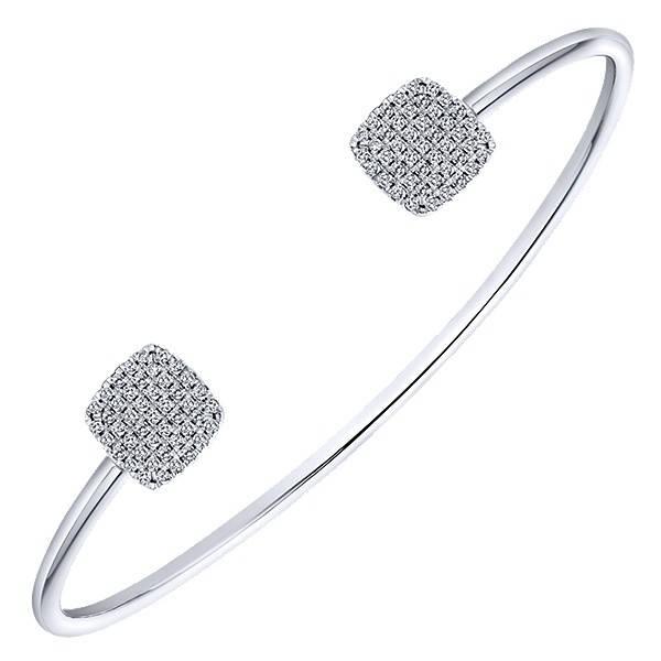 Gabriel & Co BG3851W45JJ Pave Diamond Bangle