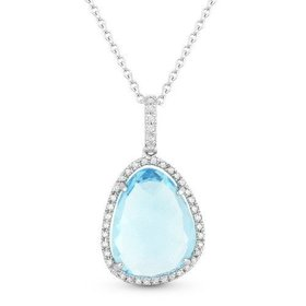 DN4650 Blue Topaz Necklace