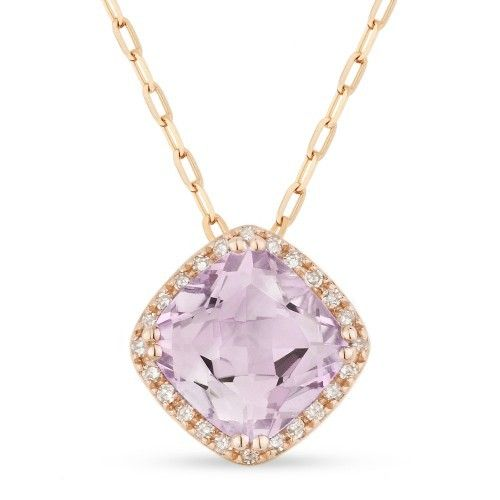Madison L DN3420 Pink Amethyst Necklace