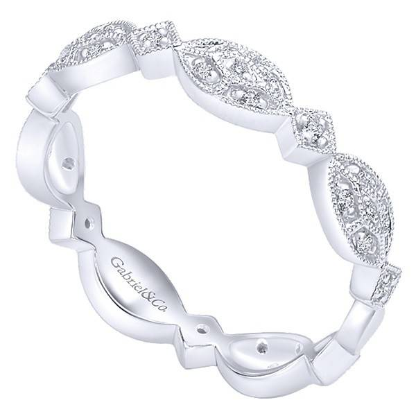 Gabriel & Co LR4800 stackable diamond band