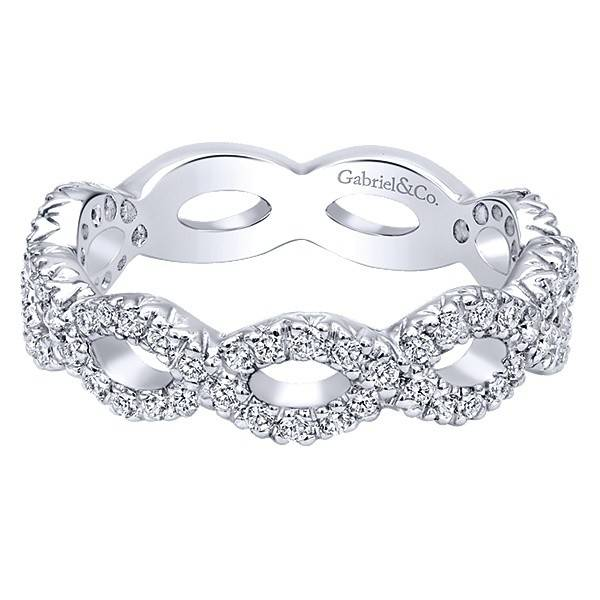 Gabriel & Co LR4589 diamond infinity band
