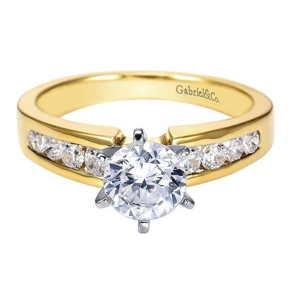 Gabriel & Co ER2200 Channel Set Engagement Ring