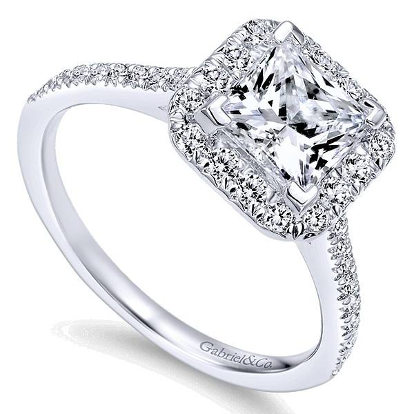 Gabriel & Co  ER7266 Princess Cut Halo