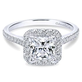 ER7266 Princess Cut Halo
