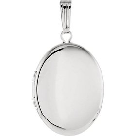 84923 sterling silver oval locket