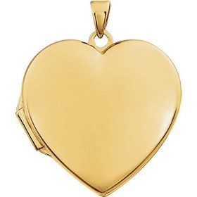 86053 14kt yellow gold heart locket