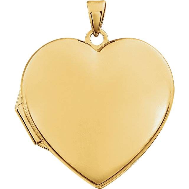 Stuller 86053 14kt yellow gold heart locket