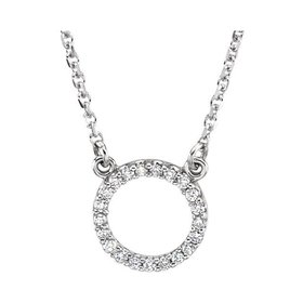 66417 Diamond Circle Pendant Necklace