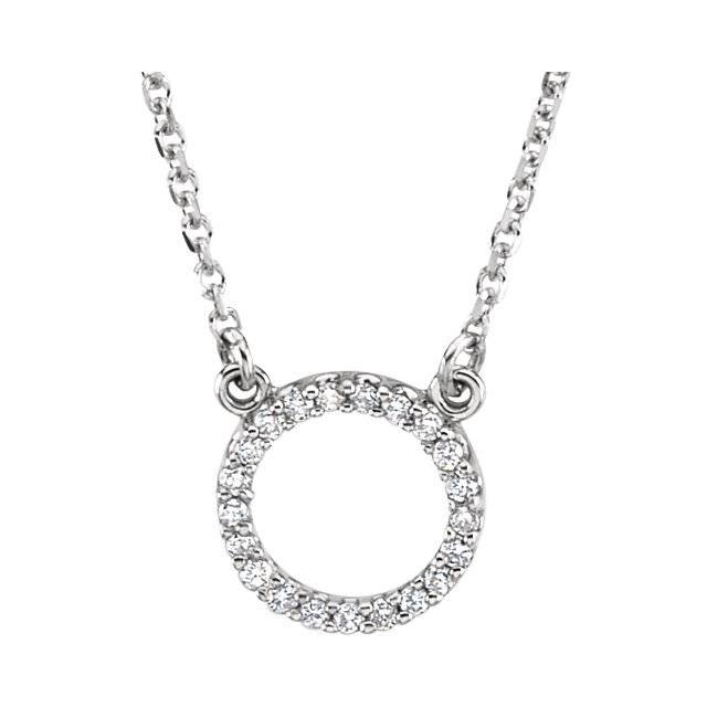 Stuller 66417 Diamond Circle Pendant Necklace