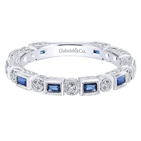 LR4380 diamond and sapphire alternating band