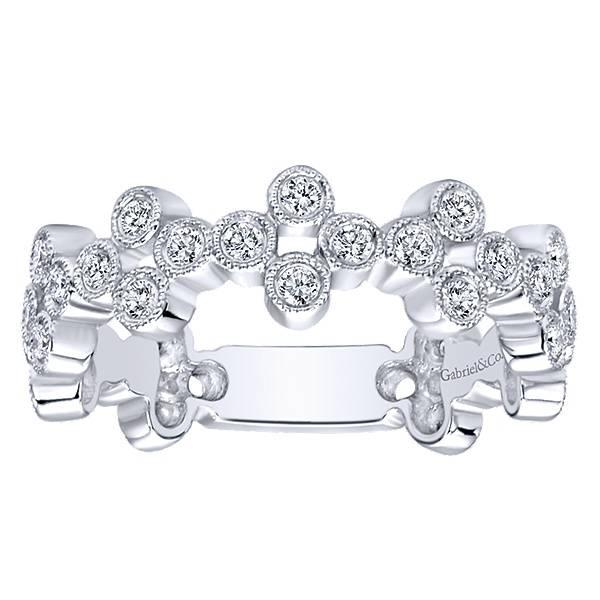 LR5663 stackable bezel set diamond band