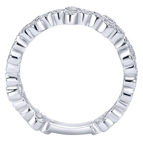 Gabriel & Co LR5663 stackable bezel set diamond band