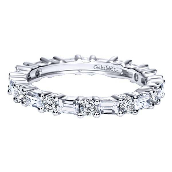 alternating bands round diamond gabriel total baguette wedding jewelers carat co band freedman sz eternity and