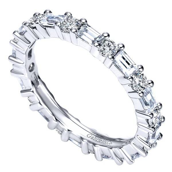 Gabriel & Co AN5284 baguette diamond eternity band