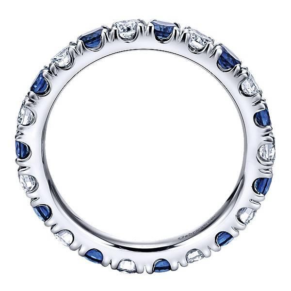 Gabriel & Co AN11360 alternating diamond sapphire band